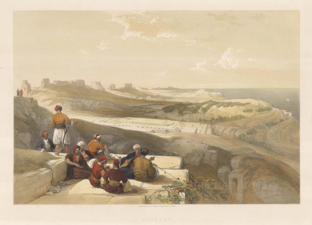 View over Askalon and the Sea of Tiberias.