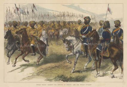 British Army Overseas: 9th Bengal Cavalry. Officers and Troopers.