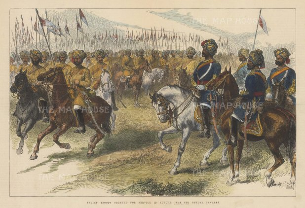 British Overseas: 9th Bengal Cavalry. Officers and Troopers.