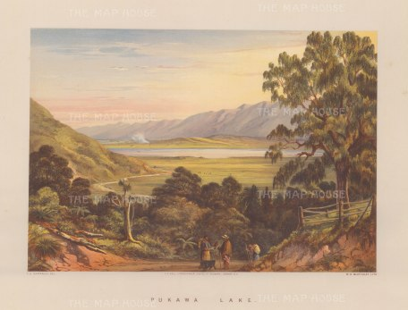 View of Pukawa Bay from the Te Aute Road.