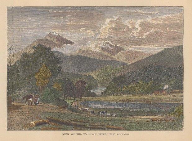 View towards Mount Taranaki.