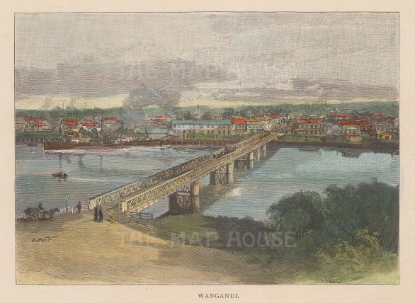 View of the city and Wanganui river.