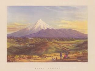 Mount Taranaki (Mount Egmont): View from the Puketotara road.