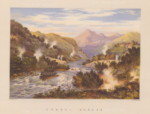 View of over Waikato River and the sinter terraces.