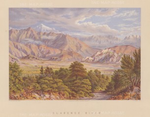 Waiau Toa River (Clarence River): Showing the highest point of the Kaikoura Ranges.