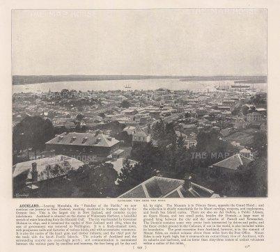 """Meisenbach &Co.: Auckland. c1910. An original antique photo-lithograph. 10"""" x 7"""". [NWZp301]"""
