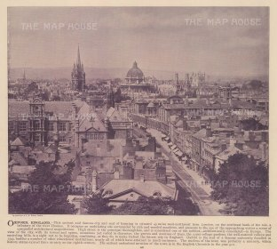 "Wilson: Oxford. c1890. An original colour antique photo-lithograph. 10"" x 8"". [OXONp820]"