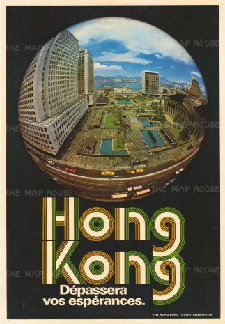 'Depassera vos esperances'. Promotional poster with 'Fish Eye' photo of the city.