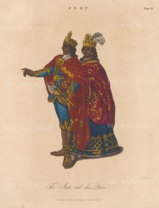 The Incan King and Queen.