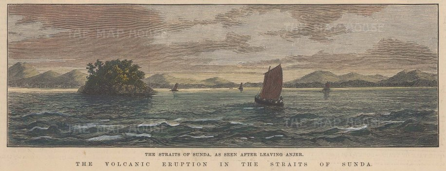 Java: Straits of Sunda from the direction of Anjer.