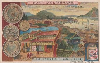 "Liebig's Extract: Nagasaki. c1890. An original antique chromolithograph. 5"" x 3"". [SEASp1367]"