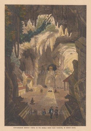 Tourane (Da Nang): Subterranean Buddhist temple.