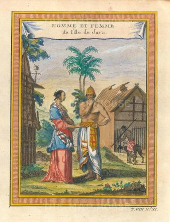 Java: Portrait of a lady and gentleman in traditional dress.