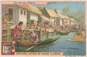 "Liebig's Extract: Bangkok. c1910. An original antique chromolithograph. 4"" x 3"". [SEASp1611]"