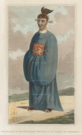 Mandarin of the military order in ceremonial dress.