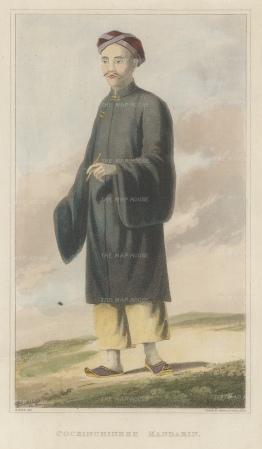 Cochin-Chinese Mandarin in traditional dress.