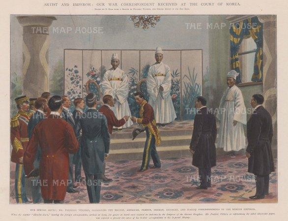 Reception of the Ambassadors to Emperor Gojong.