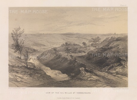 Yenangyoung on the Irrawaddy (Ayearwady): View of the Oil wells.