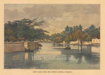 View of Surabaya from Genting bridge.