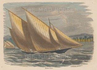 Malay Proa or sailboat.