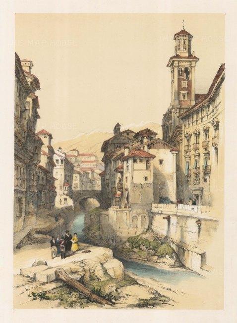"Roberts: Granada. 1837. A hand coloured original antique lithograph. 11"" x 16"". [SPp709]"