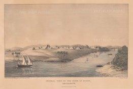 "Head: Temple of Luxor. 1833. An original colour antique lithograph. 17"" x 11"". [EGYp1064]"
