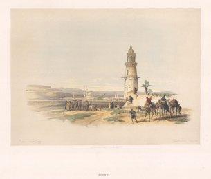 "Roberts: Siout. 1847. A hand coloured original antique lithograph. 15"" x 12"". [EGYp1071]"