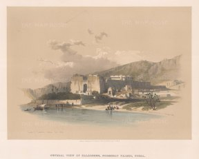 Kalabshee Formerly Talmis: View of the Temple built by Amenhotep II c1450 BC and relocated to New Kalabasha Island.