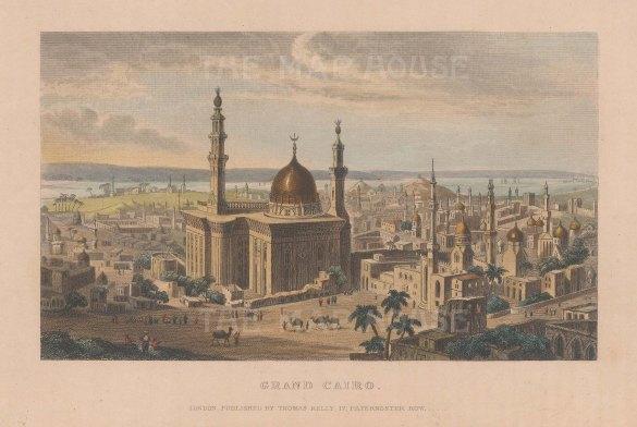 Grand Cairo: Panoramic view with Muhhamad Ali Pasha mosque in foreground.