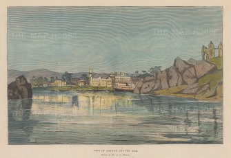 View from the River Nile to the settlement of Assouan.
