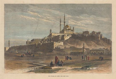 Saladin Citadel: View of the fortifications built on Mokkattm Hill in the 12th Century to protect the city from crusaders.