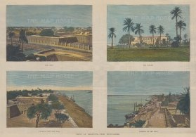 Four Views: The Fort, The Palace, Looking down the Nile, and Looking up the Nile.