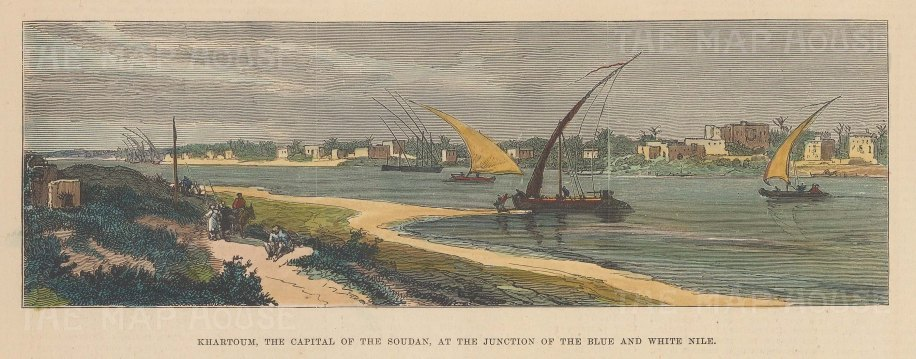 View of the city at the junction of the Blue and White Nile.