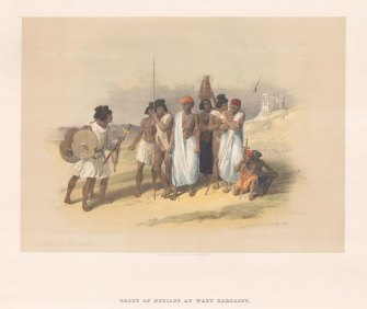 Nubian Inhabitants at the Temple.