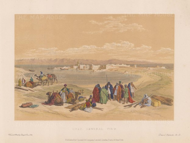 General view with Desert Encampment in the foreground.
