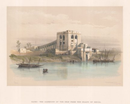 Aqueduct of the Nile from Rhoda.