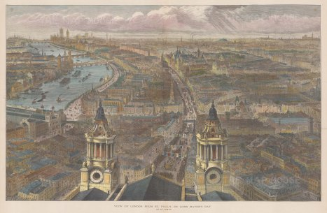 From the dome of St.Paul's looking Eastward. After Sir John Sulman.