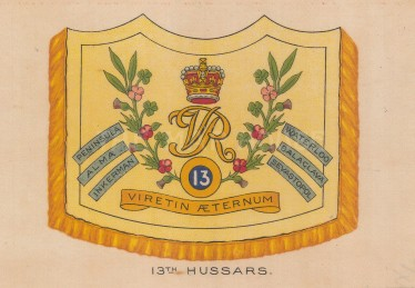 13th Hussars, amalgamated to the 13/18 Royal Hussars.
