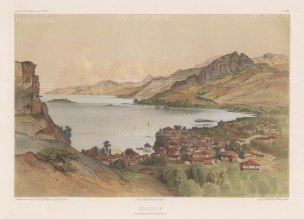 View of the town on the southern coast of the Black Sea. After Jules Laurens.