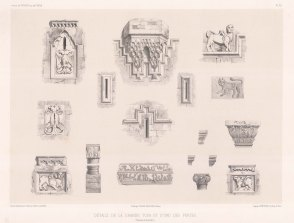Architectural sketches illustrating one of the Gates of Diyarbakır.