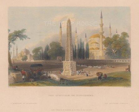 Hippodrome (Atmeidan). With the Column of Theodosius and Agia Sophia.