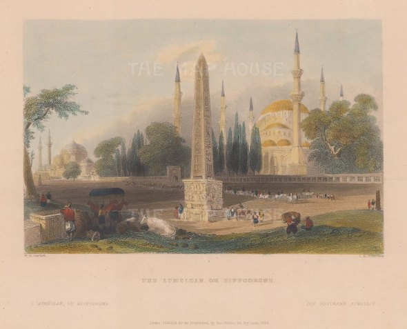 Constantinople: Hippodrome (Atmeidan). With the Column of Theodosius and Agia Sophia.