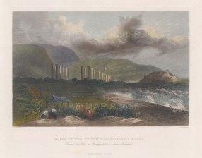 "Bartlett: Soli (Pompeiopolis). 1834. A hand coloured original antique steel engraving. 8"" x 5"". [TKYp1244]"