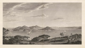 Islands of the Princes (Kızıl Adalar): Panorama of archipelago of nine islands in the Sea of Marmara off the coast. The islands served as an exile for royals for both the Byzantine and Ottoman Empires.