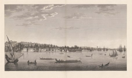 Aïnali-Kavak: View near the Arsenal in the interior of the port on the north-eastern coast.