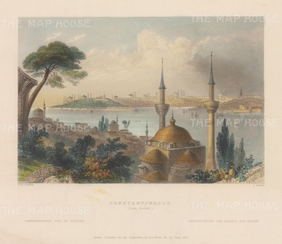 Constantinople: Panoramic view from Scutari.