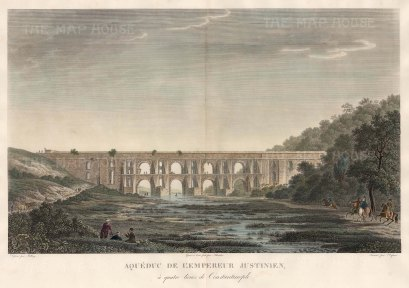 Aqueduct of the Emperor Justinian: The 4th century Valens or Grey Falcon Aqueduct was restored by Justinian II in the 6th century.