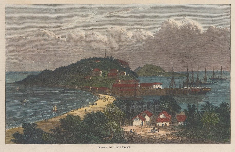 View of the bay of Panama.