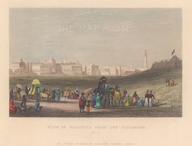View of Calcutta from the Esplanade.
