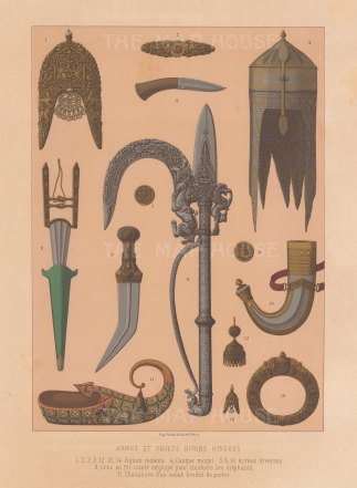 Thanjavur: Fourteen examples of arms and decorative arts.